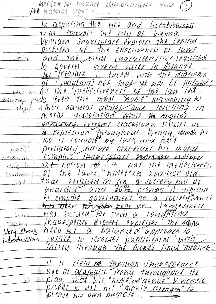 Neve Measure essay page 1